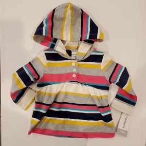 CARTER'S BABY GIRL HOODED SWEATER